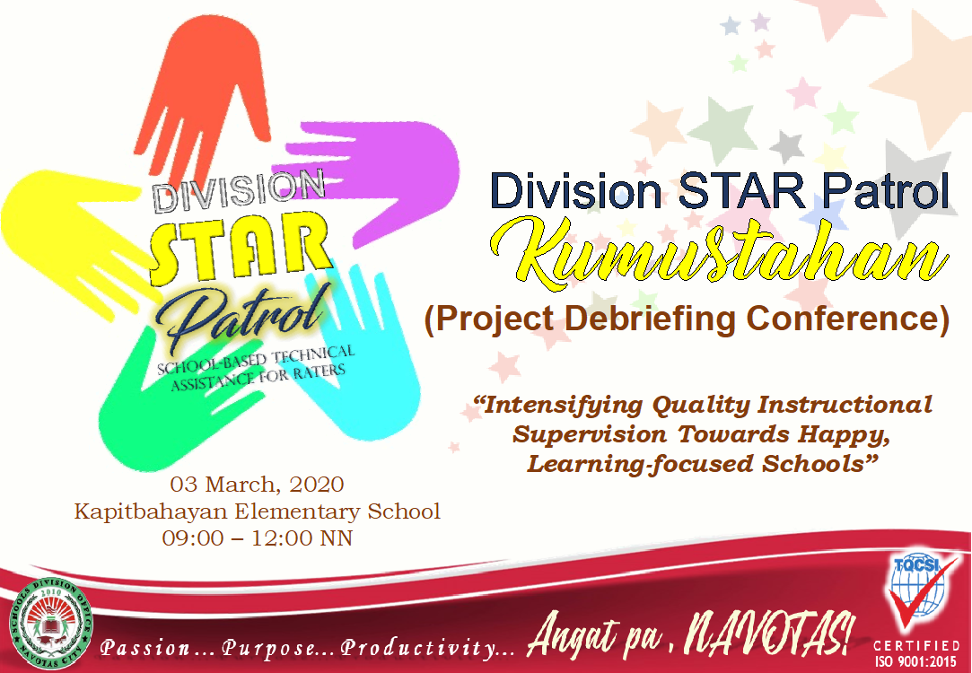 SUCCESS STORIES, VALUABLE FEEDBACKS HARVESTED FROM DIVISION STAR PATROL PROJECT DEBRIEFING CONFERENCE